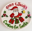 Personalized Cookies For Santa Plates