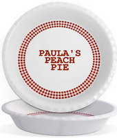Personalized Pie Plates