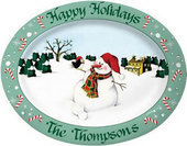 Personalized Christmas Plates & Platters
