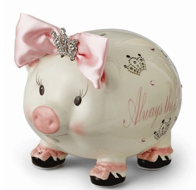 Always The Princess Large Piggy Bank By Mud Pie